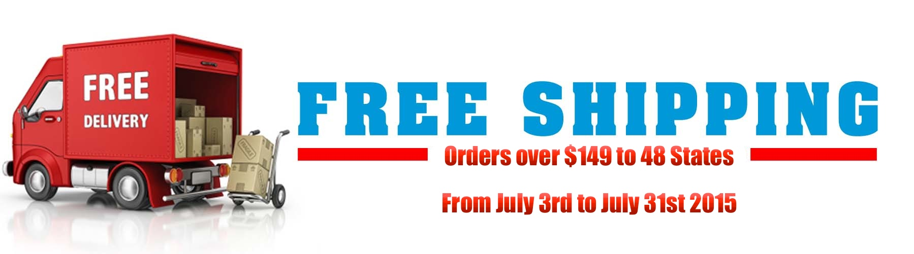 July Free Shipping Retail